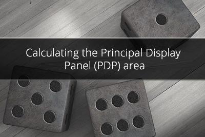 Calculating the Principal Display Panel (PDP) area