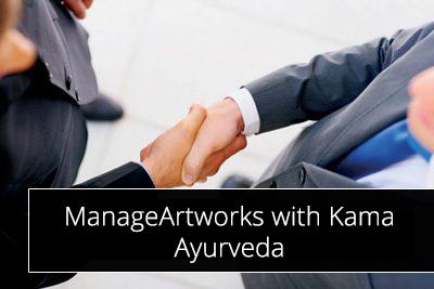 ManageArtworks with Kama Ayurveda