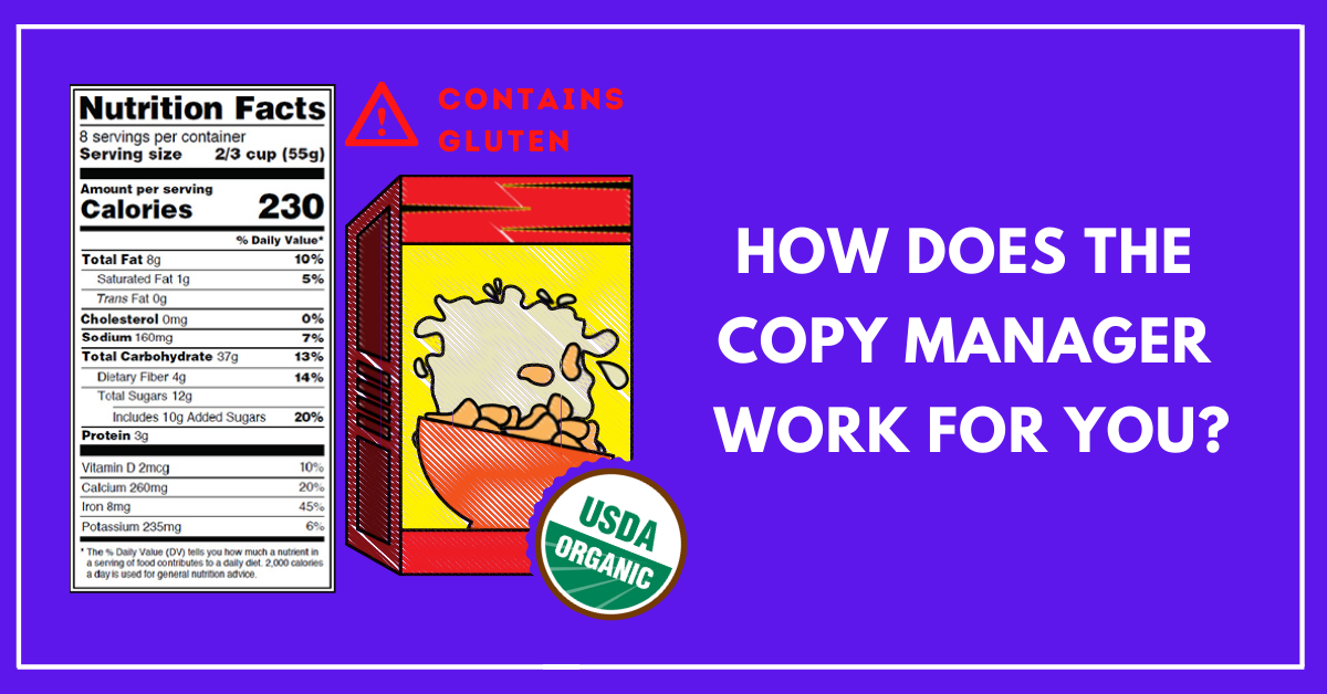How do you manage your packaging copy?
